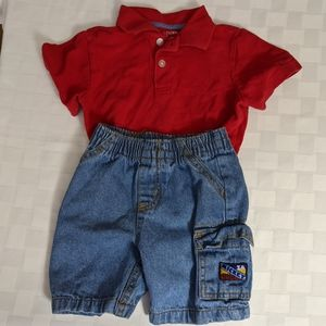 3/$15 💥 Mickey Mouse Jeans and Red Polo